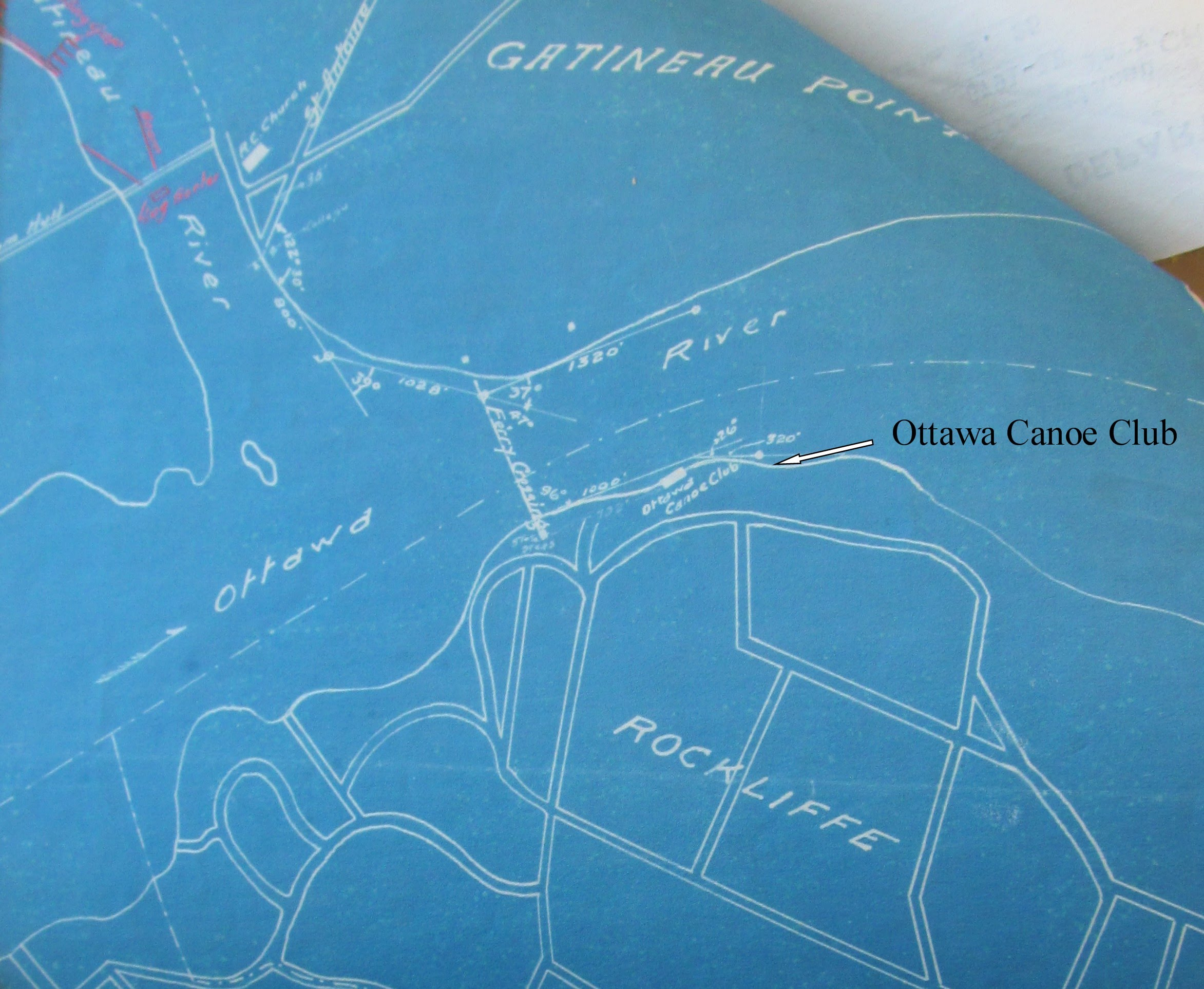 Plan, 1915, showing location of Gatineau Ferry and OCC. LAC, DPW File 8791-1, Vol.3